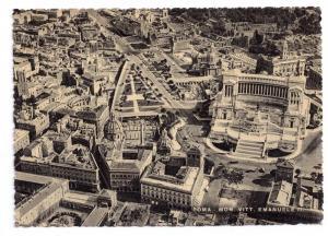 Italy Rome Vittorio Emanuele Monument Aerial View Capello