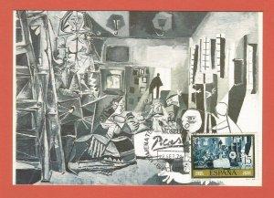 "SPAIN – MAXI CARD – 1978 – PICASSO PAINTING ""LAS MENNAS"""