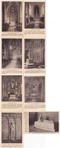 (8 cards) Cathedral of St John The Divine Interior Views NYC New York City - WB