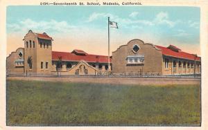 B88/ Modesto California Ca Postcard c1910 Seventeenth Street School Building
