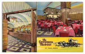 The Covered Wagon Restaurant, St. Paul, MN Postcard *4X