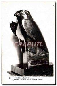 Old Postcard Musee Du Louvre Epoque saite Hawk Raptor Bird
