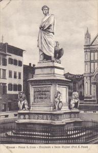 Italy Firenze Piazza Saint Croce Monumento a Dante Allighieri