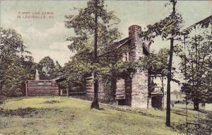 Kentucky Louisville First Log Cabin In Louisville 1908