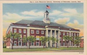 Nebraska Lincoln Don L Love Memorial Library University Of Nebraska Curteich