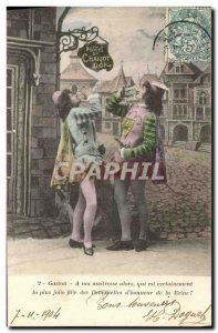Old Postcard Fancy Both pages Theobald and Gaston Hotel Chariot d & # 39or