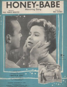Honey Babe Battle Cry Film 1950s Sheet Music