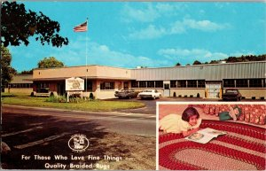 Thorndike Mills Palmer MA Braided Rugs New England Maid Rug Co Vtg Postcard R20