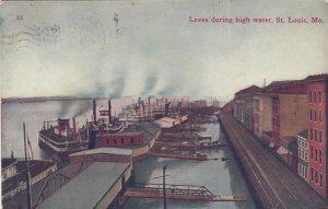 ST. LOUIS, Missouri, 1911 , Levee during High Water