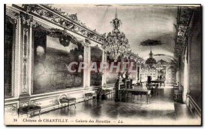 Old Postcard Chateau de Chantilly Gallery of Battles
