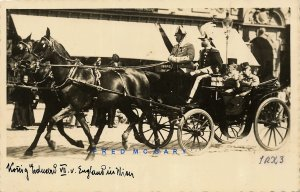 Circa-1909 Vienna Austria Real Photo PC: Edward VII in Carriage on His Visit
