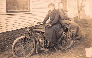 Indian Motocycle, Two Woman Posing Unused