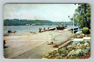 Upper Canada, Glenora Ferry, Free Ferry run by Government, Chrome Postcard