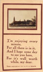 F35/ Whittmore Iowa RPPC Postcard 1915 Catholic Church Parsonage