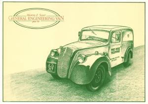 Postal History Postcard 1947-58 Morris Z 5cwt General Engineering Van V10
