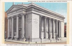 Savings Bank of Baltimore, Baltimore and Charles Streets, Maryland, 10-20s