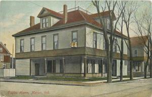 Marion Indiana~Protective Order of Eagles Home~Neighborhood Houses~1910 Postcard