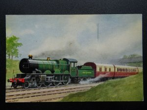 GWR Great Western Railway LOCO No.4073 CAERPHILLY CASTLE - Old Postcard