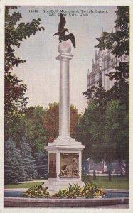 SALT LAKE CITY, Utah, 1930-1940s; Sea Gull Monument, Temple Square