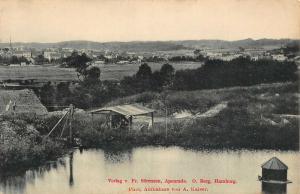 Verlag v Fr Sorensen Apenrade Hamburg Lake Village Panorama Postcard