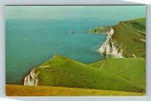 NR Lulworth UK-United Kingdom, Arish Mell, Chrome Postcard