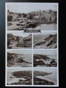 Guernsey: 7 Image Multiview c1938 RP Pub by Valentine's No.869