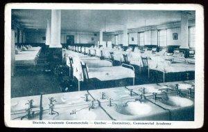 dc1282 - QUEBEC CITY Postcard 1910s Commercial Academy Dormitory Interior