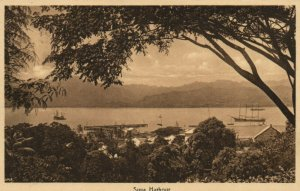 PC CPA SAMOA, PACIFIC, SUVA HARBOUR, Vintage Postcard (b19445)