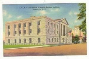 Post Office, Greenville, South Carolina, 30-40s