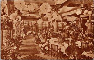 Davenport's Restaurant Spokane WA Easter Sunday 1912 Unused Postcard G2 *as is