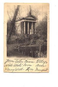 B&W Parc De La Malmaison, Le Templed'Amour, 1902, France