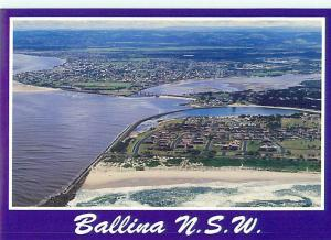 Ballina NSW Australian Aerial Richmond River of Ballina  Postcard  # 6576