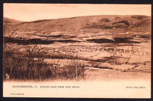 Vt - Manchester - Looking East from Deer Knoll – Hard's Drug Store imprint