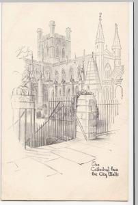 Cheshire; The Cathedral From The City Walls, Chester PPC, Unposted, c 1910's