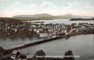 19540  Aerial View of  Lake Memphremagog and   Newport VT