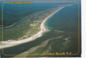 Greetings from Holden Beach, Intercoastal Waterway bridge, North Carolina, 50...