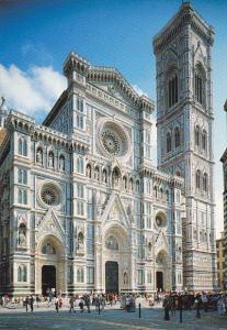 Italy Firenze Cattedrale Facciata e Campanile