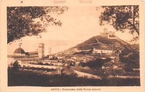 Italy Old Vintage Antique Post Card Assisi Panorama della Rocca Minore Unused