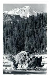 RPPC Mt. Lassen & The Hot Rock, CA Real Photo Postcard *5F(2)32