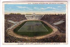Football Coliseum, Exposition Park, Los Angeles California, Western Publishing