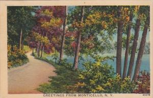 New York Greetings From Monticello 1940