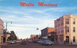Malta Montana~Front Street~G-N Bar Steaks~Neon Sign~Carter~Hardware~1950s Cars