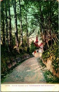 Vtintage Carte Postale 1910-15 Suisse Hohle Gasse Et Teliskapelle Bei Kussnacht
