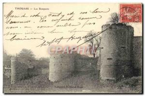 Old Postcard Thouars Ramparts