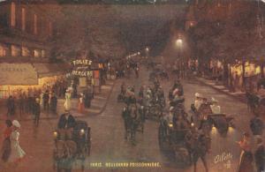 TUCK ; PARIS, France; Boulevard Poissonniere at night, 00-10s