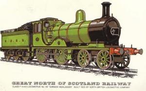 Scotland Railway Gordon Highlander 49 Train Postcard
