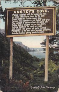 Sign , Anstey's Cove , Torquay , England PU-1907