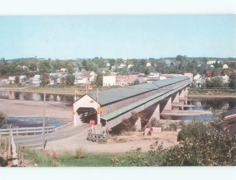 Unused Pre-1980 WORLD'S LONGEST COVERED BRIDGE Hartland To Somerville NB d3542