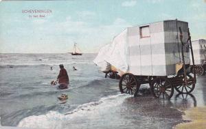 Sailboat, Covered Cart, In Het Bad, Scheveningen (South Holland), Netherlands...