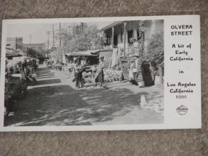 RPPC, Olvera St., a bit of Early Calif., Los Angeles